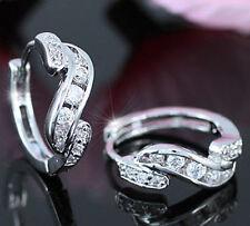 Silver Plated Huggie Fashion Earrings
