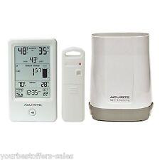 AcuRite Rain Gauge Wireless Outdoor Thermometer Humidity Meter Humidity Sensor