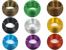2M or 5M  Aluminium WIRE for Florist Floral, Jewellery Making, Craft ~0.8 - 2mm~