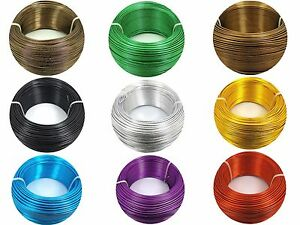 2M or 5M x Aluminium WIRE for Florist Floral, Jewellery Making Craft ~0.8 - 2MM~