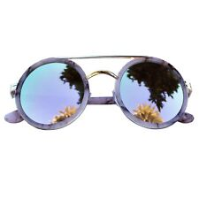 Gafas De Sol Redondas Leopardo Rosa Mujer Espejo Metal Pasta Redondo Fereti 100