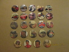 NASCAR Lot of 24 Vintage 3 Inch Racing Pinback Buttons