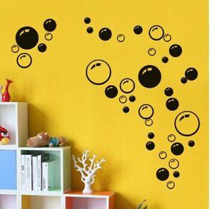 DIY Wall Art Kids Bathroom Washroom Shower Tile Removable Decor Bubbles vinyl