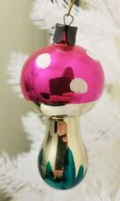 Vintage Amanita Christmas Tree Decoration Glass Ornament