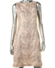 NEW Womens Stunning Lauren Ralph Lauren Pink Sequined Party Cocktail Dress AU12