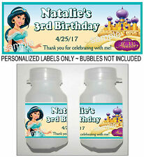 30 DISNEY PRINCESS JASMINE BIRTHDAY PARTY FAVORS BUBBLE LABELS