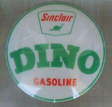 ORIGINAL SINCLAIR DINO GASOLINE PUMP GLOBE FACE MILK GLASS COOL DISPLAY PIECE