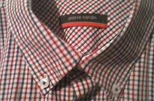 PIERRE CARDIN blue/red checked shirt. Button collar/cuffs. Size L. Worn once.