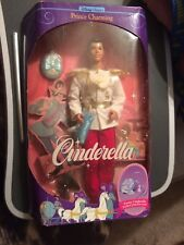 Disney Barbie 1990s CINDERELLA Doll PRINCE CHARMING 1991 NRFB Box Mattel