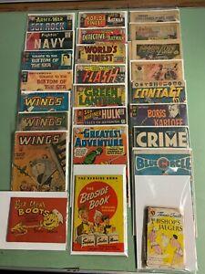 GOLDEN AGE COMIC & SILVER AGE COMIC LOT(25 Books) BATMAN,SUPERMAN,HULK and MORE!