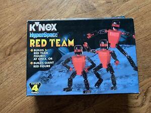 Vintage 1998 K'NEX #10812 Hyperspace Red Team Set Builds 4 Models New Sealed