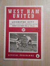 West Ham United v Leicester City 23 Mar 1964 League Cup 1963-64