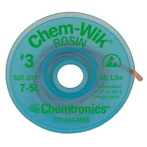 Top Quality Solder Sucker Desoldering Braid Mop Wick Chem-Wik 1.5 Mtr  1.9mm