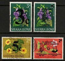 Sierra Leone 1965 Sc#273-283-300-301 Flowers Lot of 4 Thin (1) Used VF-XF