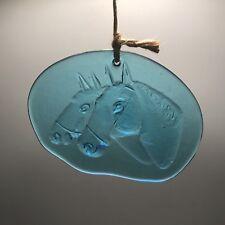 Holmegaard Blue Horse Suncatcher By Michael Bang