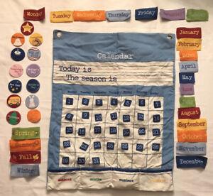 Pottery Barn Kids Cloth Learning Calendar