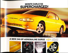 2004 Chevrolet Monte Carlo SS Supercharged 1-page Brochure Fact Sheet