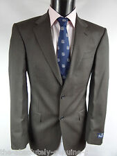 AQUASCUTUM 'BUCKINGHAM' Charcoal Striped SUIT 36 R RRP £650