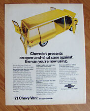 1971 Chevrolet Chevy Van Ad The Space Vehicle