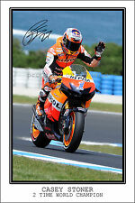 *CASEY STONER* LARGE SIGNED AUTOGRAPH POSTER PHOTO PRINT, GRAB YOUR'S NOW!