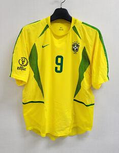 2002 Brazil Home S/S No.9 Ronaldo Dual Layer Player Issue 02 Jersey Shirt Trikot