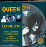 "Queen, Let Me Live, NEW/MINT Original Ltd PICTURE DISC 7"" vinyl single w/insert"
