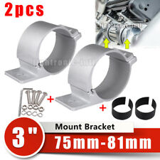 2X 3'' 3.2'' 76-81mm Bull Bar Mount Brackets Holder Clamp for Led Work Light 4WD