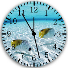 "Tropical Ocean Fish wall Clock 10"" will be nice Gift and Room wall Decor Z73"