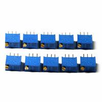 10pcs 3296W Variable Resistor Trimmer multi-turn adjustable potentiomete