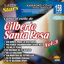 Karaoke Latin Stars 158 Gilberto Santa Rosa Vol.3