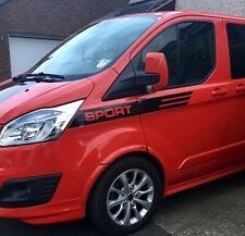 FORD TRANSIT CUSTOM M SPORT STRIPE KIT DECALS STICKERS GRAPHICS ALL COLOURS
