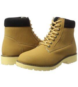Champion Mens High Cut Upstate Boots Brown UK 8 EUR 42 Sand Beige Smart Fashion