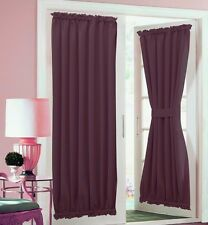 1PC FRENCH DOOR PANEL WINDOW CURTAIN LINED BLACKOUT ROD POCKET TIE BACK DAYSI