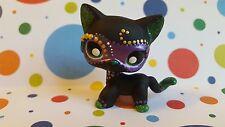 Short Hair Cat Mardi Gras Mask Black * OOAK Painted Custom Littlest Pet Shop