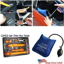 Air Pump Wedge Entry Shim 12pc Car Door Clip Dash panel Radio Removal Pry Tools