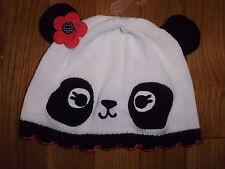 12 18 M Gymboree HAPPY PANDA Sweater Hat Poppy Flower Baby Girl New NWT