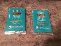 SKYBOX SERIES 2 INAUGURAL EDITION BASKETBALL CARDS 1990-1991 2 PK 15 CARDS EACH