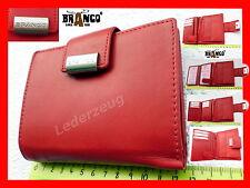 Leder Damen Geldbörse Portemonnaie rot Branco Bifold Geldbeutel Damenbörse NEW