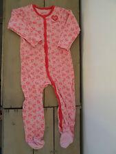 Pyjama grenouillère coton rose imprimé Superbaby Taille 2 ans / 23 mois / 86 cm