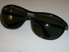 B&L RAY BAN PS3 BLACK NYLON G15 UV GLASS CATS PREDATORS WRAP SUNGLASSES *USED*