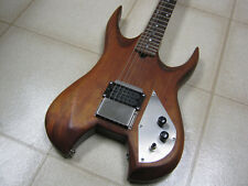 Woodgrain Electric Guitar with Kramer knobs and Lado humbucker