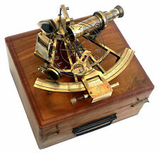 Vintage German Heavy Working Antique SEXTANT 8 Inch Collectible With Wooden Box
