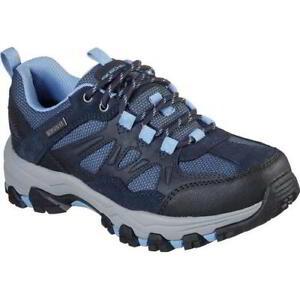 Skechers Selmen West Highland WIDE FIT Womens Blue Waterproof Walking Trainers S