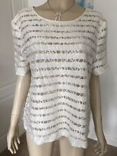 DOROTHY PERKINS SIZE 20 PALE CREAM  LACE FORMAL PARTY TOP IN PERFECT CONDITION