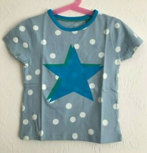 NEW Ex MINI BODEN Blue Pop Star T-Shirt - FREE POSTAGE - Ages 3 to 12 Years