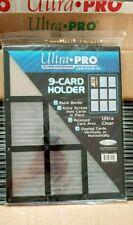 ULTRA PRO BLACK FRAME 9 CARD SCREWDOWN HOLDER New Clear Trading Storage Display!
