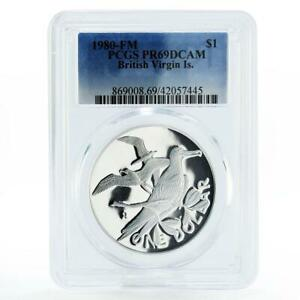 British Virgin Islands 1 dollar Magnificent Frigates PR69 PCGS silver coin 1980