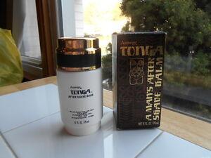 RARE Vintage 1979 Amway TONGA 6 Oz A Man's After Shave Balm Tiki Hawaiian NOS