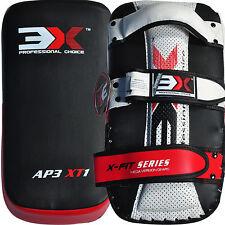 3X Sports Thai Kick Pads Strike Shield Boxing Armature Training Leather Fighting
