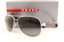 Brand New Prada Sport  Sunglasses PS 53P 53PS 1BC/5W1 SILVER/BLACK/GREY POLARIZE
